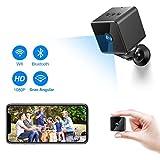 Mini Camara Espia Oculta Bluetooth, MHDYT WiFi HD 1080P Cámara Vigilancia Portátil con Altavoz Bluetooth, Sensor...