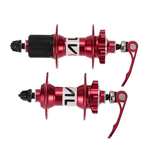 WYJW Pinchos de liberación rápida 32 Agujeros MTB Freno de Disco de montaña Buje de Bicicleta Buje de Bicicleta Trasero de Aluminio con brochetas de Palanca de liberación rápida Piezas