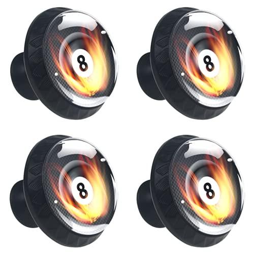 FURINKAZAN Tirador para armario de cocina, puerta de armario, cajones, tiradores de ropa, gancho moderno y simple, negro, ocho bolas con llama