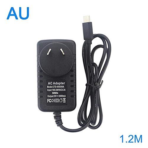 overlookTW Fuente de alimentación de generación 5V 3A Tipo-C Adaptador de Corriente USB Raspberry Pi 4 1.2m para Raspberry Pi 4th (Bandeja) Frugal