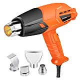 Enertwist 1500W Heat Gun Kit with 4 Nozzle...