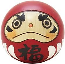 Usaburo Kokeshi Holzpuppe Happy Daruma, hergestellt in Japan