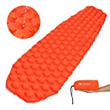 V VONTOX Sleeping Pad, Ultra Light Best Self Serving Inflatable Sleeping Mat,