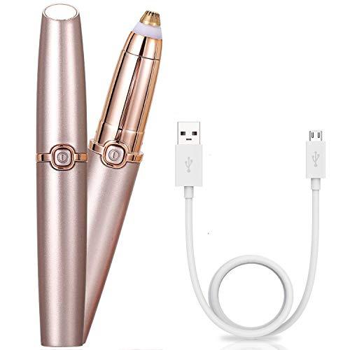 Eléctrica Depiladora Cejas - Ceja Recortador Flawless - Eyebrow Trimmer Mujer Depiladora Facial Para - Depilacion De Cejas USB Batería Hombre y Mujer - Como se ve en la TV