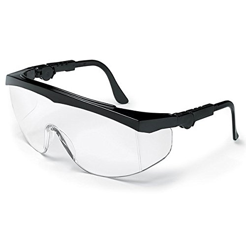 Black Tomahawk Safety Glasses - Clear, Anti-Scratch (50/Pack) - R3-TK110