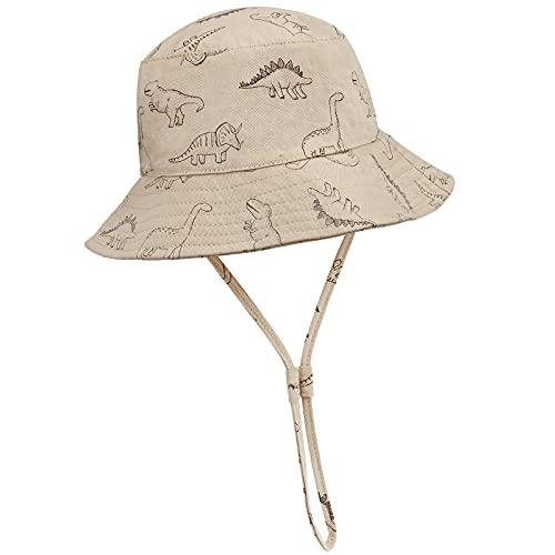 DRESHOW Unisexo Bebé Niña Niño Sombrero de Sol Verano Algodón Ajustable Pescador Gorra Protección de Sol Anti UV Para Exteriores/Natación/Playa/Piscina UPF 50+