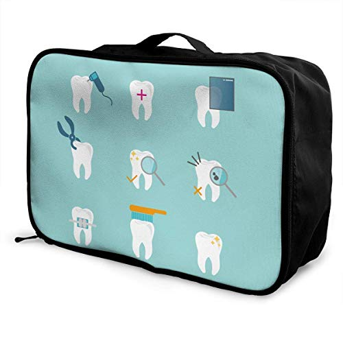 Qurbet Bolsas de Viaje, Portable Luggage Duffel Bag Cartoon Funny Teeth Fitness...