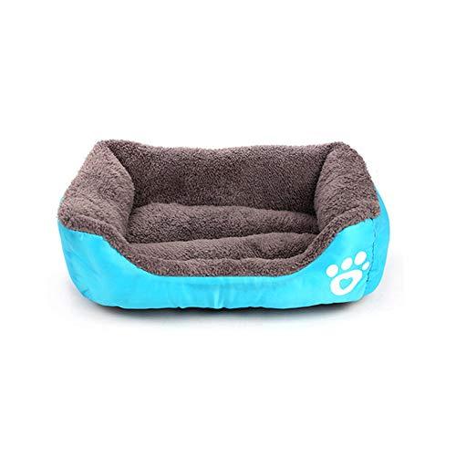 Cama para Perros de Felpa Suave y cálida Cama para Perros Cama para Dormir mullida sofá para Mascotas Perros pequeños y medianos de Varios tamaños -Azul_S-45 * 40cm