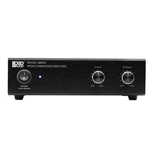 OSD Audio 75W Class A/B Mono Subwoofer Amplifier – Variable High Cut Filter, Volume Control – SMP60