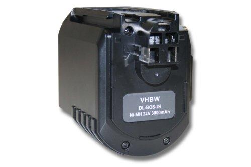 vhbw Batería Ni-Mh 3000mAh (24V) repuesto de Bosch 2 607 335 223,...
