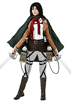 Deluxe Attack on Titan Mikasa Costume Cosplay Halloween Costume for Women Large