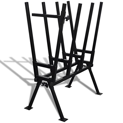 mewmewcat Sägebock für Säge Holzspalter Kettensäge Brennholz Sägegestell Holzsägebock 103 x 76 x 50 cm