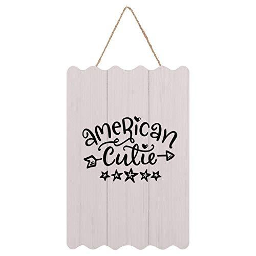 Not Branded Rustykalne drewniane znaki w ramce wiszące wiejskie dekoracje ścienne z zabawnymi powiedzeniem do domu, kuchni, łazienki amerykańskiego słodycza, patriotyczny, USA, Ameryka, czwarty lipca