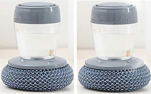 AAQQ Cepillo multifuncional de limpieza de prensado, cepillo de limpieza de estufa con mango cepillo de bola de limpieza para vajilla, utensilios de cocina, se puede reutilizar para lavar platos.