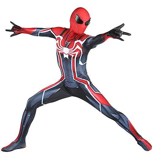 LEDLFIE Disfraz de Cosplay Spiderman lejos de la casa Disfraz Unisex para Adultos y nios PS4 Spider-Man-Velocity Mallas de una Pieza (Color : Child, Size : M)