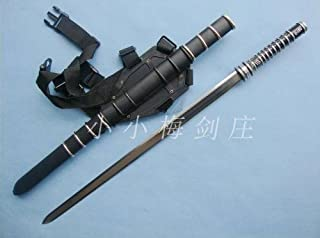 AIT Collectibles S2601 Wesley Snipes Movie Blade Trinity II 2 Sword W/Leather Backpack Belt 37