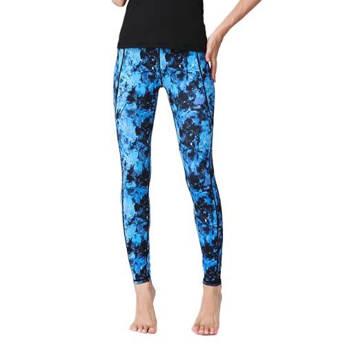 QTJY Pantalones de Yoga con Estampado de niña Esqueleto, Nalgas de Cintura Alta para Mujer, Leggings de Fitness, Pantalones Deportivos para Correr de Secado rápido B M