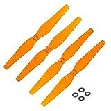 DronePost Hélice SYMA X8 X8C X8W X8G X8HC X8HW X8HG 4 Helices Color Naranja Drone (he_080|Naranja|Syma X8)