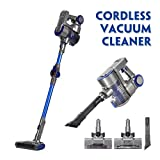 KingSo Vacuum Cleaner Cordless, 2 in 1 Upright Handheld Stick Vacuum Cleaner with LED Light Suction Brush Tool Foldable Cleaner Powerful Suction for Floor Carpet Pet Hair