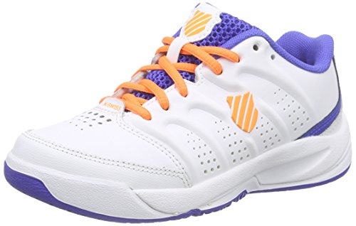 K-Swiss Performance Herren ULTRASCENDOR OMNI JR Tennisschuhe, Weiß (White/ELECTRICBLUE/ORANGE), 36 EU