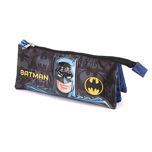 Karactermania Batman Knight-Dreifach Federmäppchen Astuccio, 23 cm, Multicolore (Multicolour)
