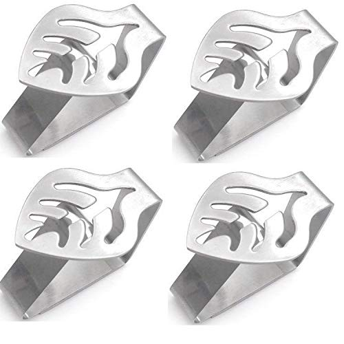 Art&Beauty 4 Pack Tablecloth Clips Clamps Stainless Steel Table Clips Tablecloth Holders Covers for Outdoor and Indoor(Leaf Shape)