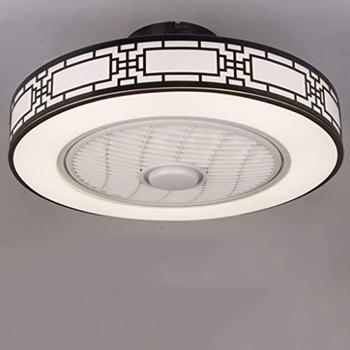 Ventilador De Techo Con Iluminación Luz De Techo Moderna Con Ventilador LED Regulable Velocidad Del Viento Ajustable Con Control Remoto 80W Silencioso Dormitorio Sala De Estar Ventilador,A