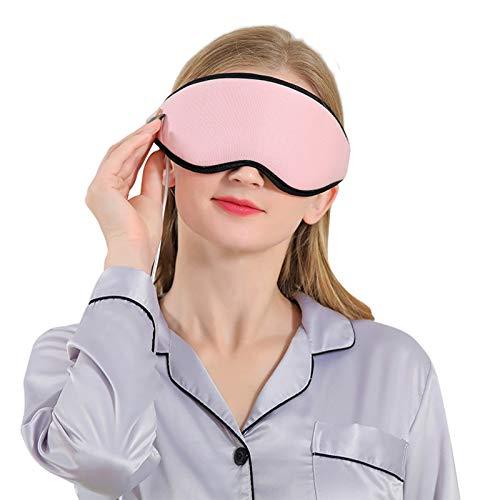 FHW Dampfbrille, Wiederaufladbare USB-Blackout-Schlafbrille, 3D-Augenmassagebrille, 360 ° Luftzirkulation,...