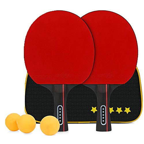 Why Choose Auxi Table Tennis Set for Dining, 2 Rackets and 3 Balls Table Tennis Bats and Balls Set B...