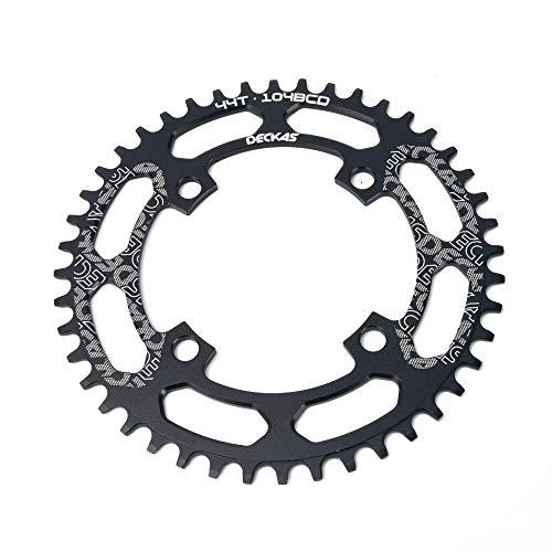 LICHUXIN Mountainbike-Links, Außen großer Single-Speed Kreis elliptische MTB schmale Breite Link, 104BCD Kurbelgeschwindigkeit Kette 8 bis 12, geeignet für Mountainbikes,Schwarz,Oval 48T