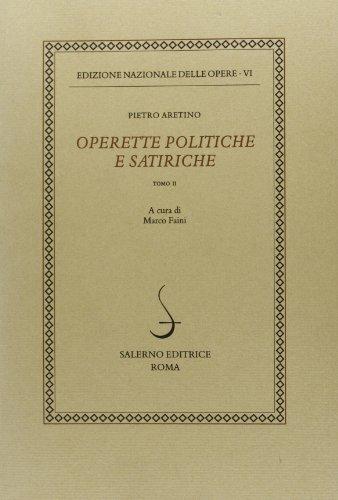 Operette politiche e satiriche (Vol. 6/2)