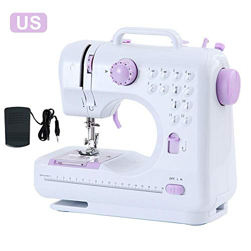 Voyoo Sewing Machine Machines for Beginners Portable Singer Small Beginner -Portable Sewing Machine with 12 Built-in Stitches -Easy-to-use Sewing Machine for Beginners Adult Children