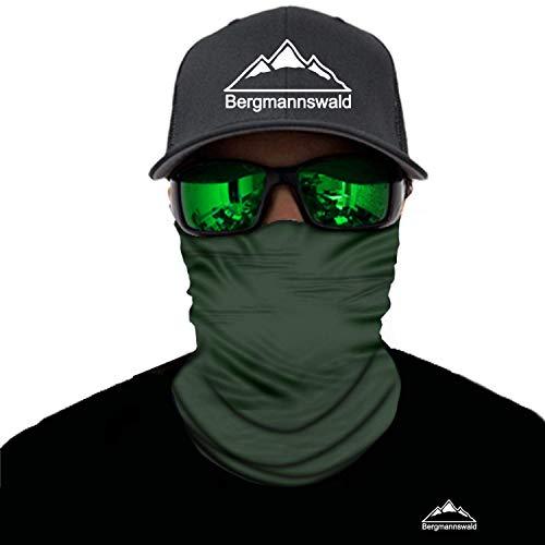 Bergmannswald® Multifunktionstuch nahtlos (1er Pack, Grün)