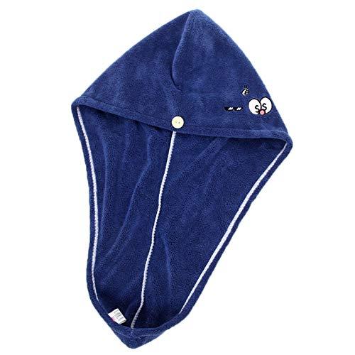 Grafts - Toalla de baño de microfibra bordada con sombrero de pelo seco serie univers, superabsorbente, sombrero de ducha 2 unidades