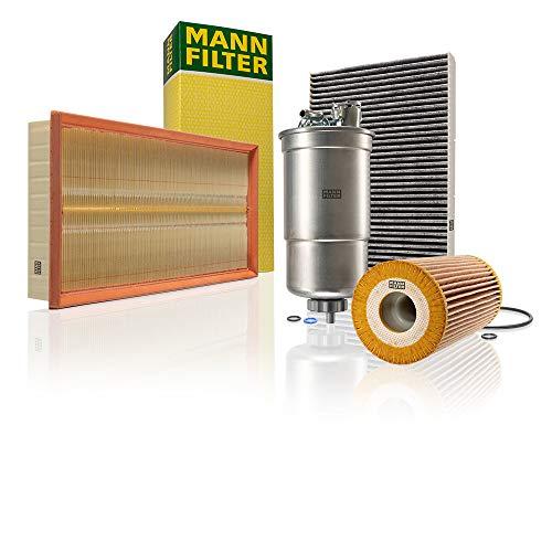 Original MANN-FILTER Wartungspaket aus 1x Luftfilter C 37 153, 1x Kraftstofffilter WK 853/3 x, 1x Innenraumfilter CUK 2862 und 1x Ölfilter HU 726/2 x - Für PKW