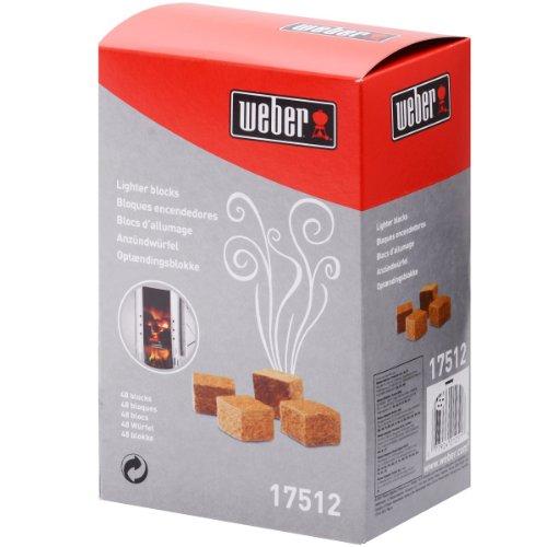 Weber 17512 Anzündwürfel 48 Stück, braun
