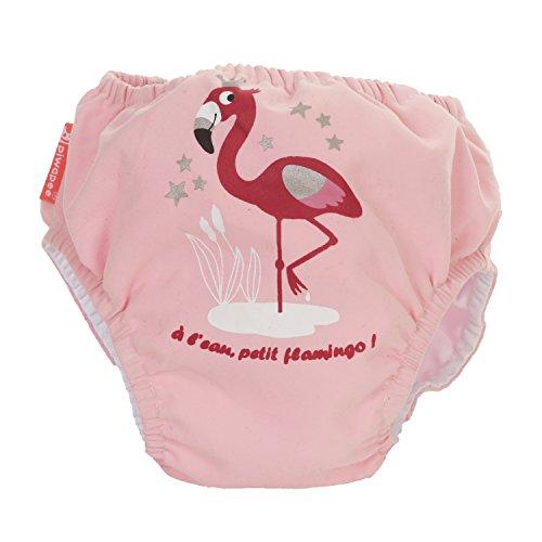 Piwapee-Costumino con pannolino inseribile, adatto all'acqua e senza fuoriuscite, motivo: fenicottero, colore: rosa rosa Rose poudré 8-11 KG ( 6-12M)