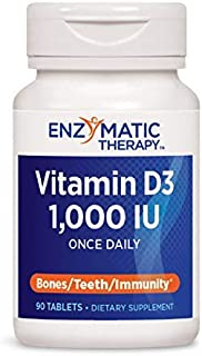 Nature's Way Vitamin D3, 25 mcg per Serving, Once Daily, 90 Count (2 Pack)