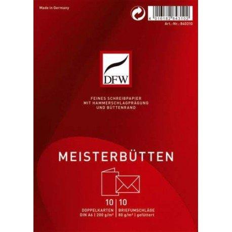 Doppelkarte Meisterbütten - A6 hoch, 10/10
