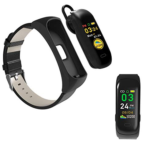 ZJ Reloj Inteligente Multifuncional De Moda con Bluetooth, Auriculares, Podómetro, Banda De Salud, Reloj Inteligente Unisex Multifuncional
