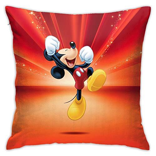 Dxddsdks Funda de cojín de Mickey Mouse con impresión 3D suave y cómoda, decoración para sofá o sillón