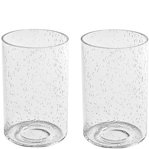 Lampenschirm 2er Set, E27 Ersatzglas, Ersatzlampenschirm Glas, Lampenglas für Pendellampe (Schaumglas)