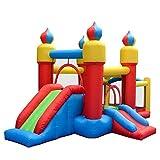 FGVDJ Aufblasbares Schloss Kindertrampolin Aufblasbares Schloss Luftkissen Bett Park Spielzeug...