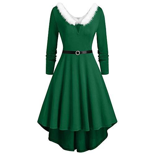 Vestido de columpio de Navidad, disfraz de adulto, vestido elegante, ropa roja de Navidad, vestidos de Navidad, ropa de fiesta nocturna para mujer, vestidos de invierno