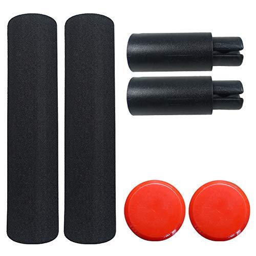 Buyfunny01 Lenkerverlängerung 2 Stück Feste, verlängerte Fläche Erhöhen Sie die Schwamm-Scooter-Teile. rutschfeste Verlängerungsstange(rot)