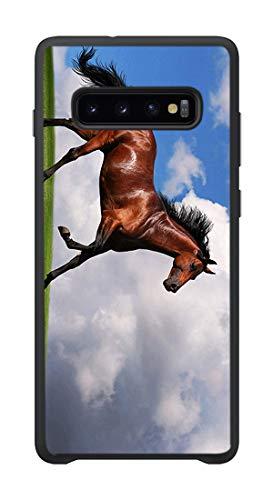 VEELFF Funda para Samsung Galaxy S10 (no S10 Plus), diseño de caballo árabe, funda de TPU con absorción de golpes