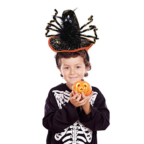 Halloween Cute Cartoon Spider Witch Hat Headband Hair Loop Hair Clasp Role Playing Animal Props Performance Props for Children Adults Cosplay Party (Pattern 6)