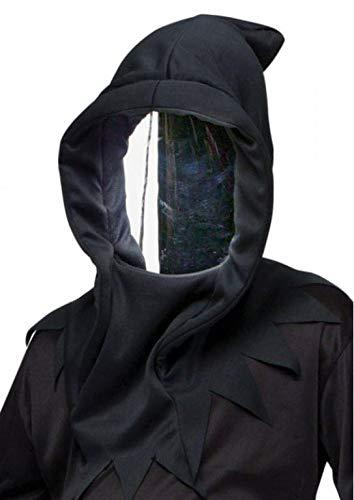 Horror-Shop Spionspiegel Maske mit Kapuze - Halloween Maske & Faschings Maske One Size