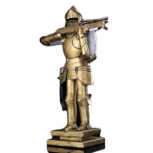 Estatuas Figuritas Decoración Escultura Figuritas Decorativas Estatuas Vintage Medieval Metal Warrior Replica Escultura Hecho A Mano Armadura De Hierro Caballero Estatua Ornamento Decoración Arte