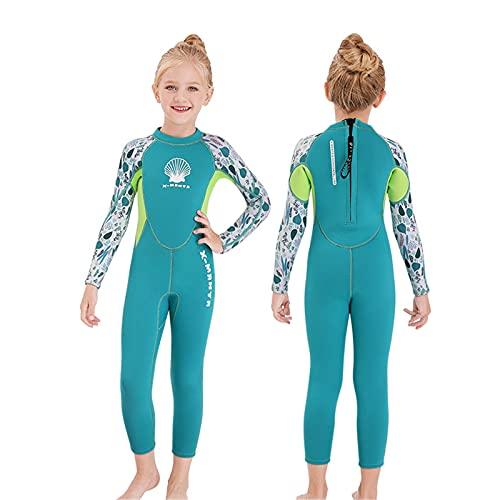 HWZZ - Costume da bagno in neoprene da 2,5 mm, flessibile, con protezione UV 50+, ideale per il surf e kayak, ideale per l'esta
